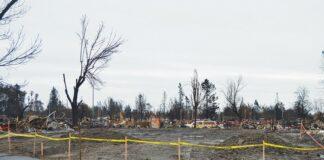 Fire damage Sonoma County
