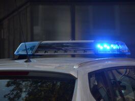 Police car lights California